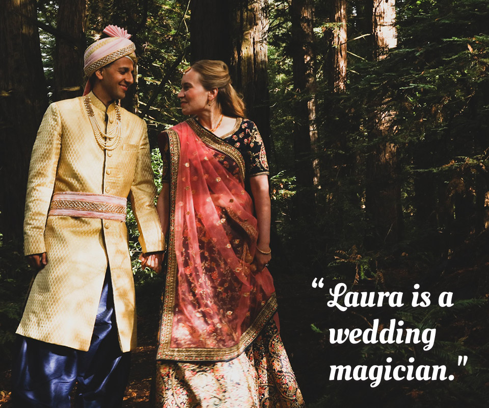 "Testimonial: ""Laura is a wedding magician."""