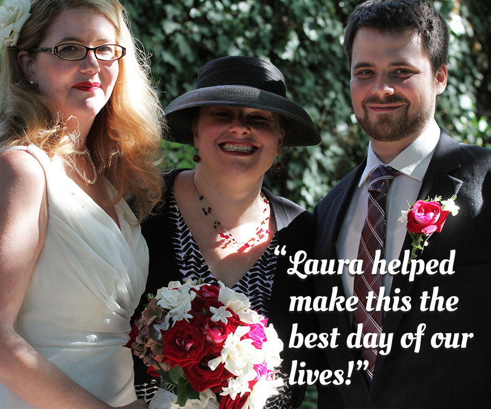 "Testimonial: ""Laura helped make this the best day of our lives!"""