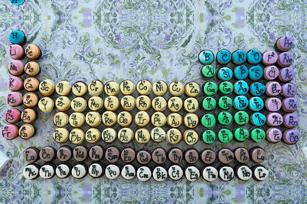 periodic table cupcakes